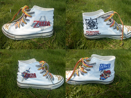 Hand-painted shoes by black-chips