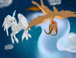 Frozen - Flying on Snowflakes by SapphireAion