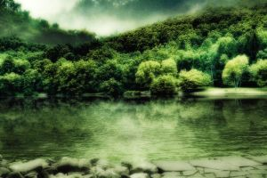 lake background 2 by indigodeep