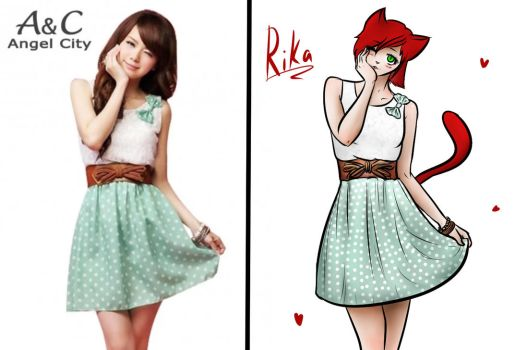 Redraw This Outfit Challenge || Minty Rika by OtakuNeko2499