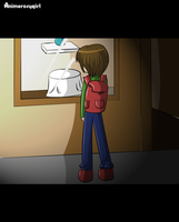 Man without a reflection by animeroxygirl