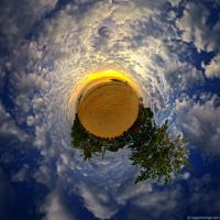 Planet in the Clouds by SaiogaMan