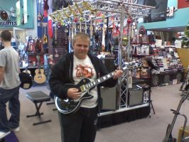 Me and My Les Paul Custom by Tommyhawk