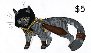 Egyptian Themed Kitty 1 GONE by KasaraWolf