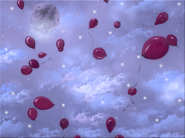 Balloons in Space by WDWParksGal