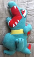 Totodile Pokemon Pillow -Product- by AztecTemplar