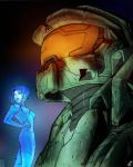 Master Cheif and Cortana by JaredGrammer