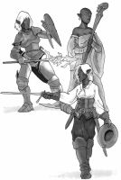 Drow personalities by Pachycrocuta