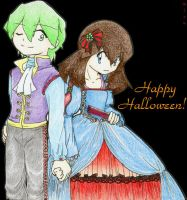 Halloween prince and princess by mizu44contestshipper