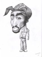 2pac caricature by j0epep