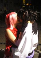 my bad boy... sasusaku cosplay by MuzzaThePerv
