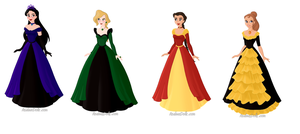 Hogwarts dresses by Bunny-Tune-94