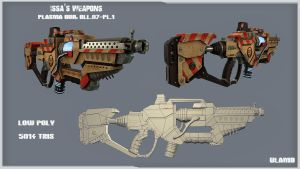Concept 3D: Issa's weapons - Plasma Gun by Ulamb