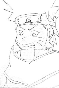 Sketched Naruto by 456kn
