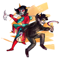 karkat and reziii by SIIINS
