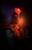 Deadpool Portrait by vest
