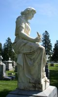 Mount Olivet Cemetery Woman 95 by Falln-Stock