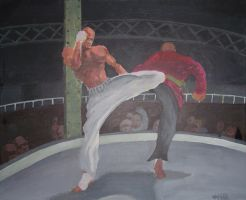 Painting of a Fight by jut754