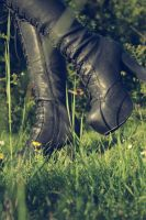 shiny shiny boots of leather by LeaHenning