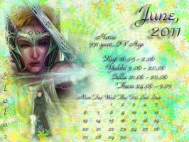 June 2011 desktop calendar by Lirulin-yirth