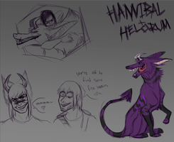 Hannibal and Helorum scribbles by Kona-Ann