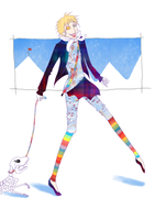a rainbow walking in the snow by LouisDelacroix