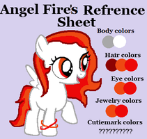 Angel Fire's Reference Sheet by JewelThePonyLover12