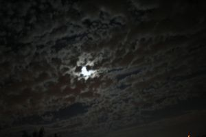 The moon behind the clouds by Ph0Xy