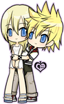 Commission : Roxas + Namine by p-inkapple