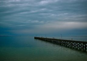 The Jetty of Blues and Greens by UseR2006