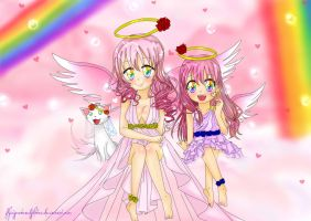 Pink Angels by FlyingCatsandGlitter