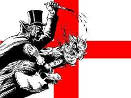 england flag - JACK THE RIPPER by thresher72