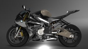 BMW S1000 Model Render by metonymic