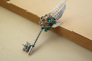Steampunk Nature knight key necklace by LsUnique