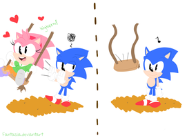 Sonic you meanie by Ipun