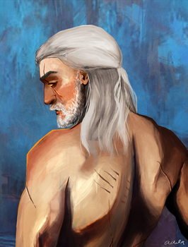 Geralt of Rivia, the White Wolf by Psycadela