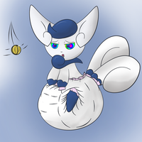 REQUEST - Poofy Meowstic by Lockeli