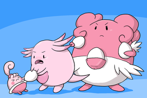 The Chansey Family by Zerochan923600