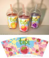 Tapi Bubble Tea- Cups by erinwitzel