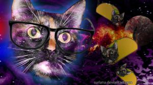 Hipster Cat Taco by surlana