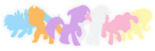 Equestria Girls - Silhouette ponies by Fangz17