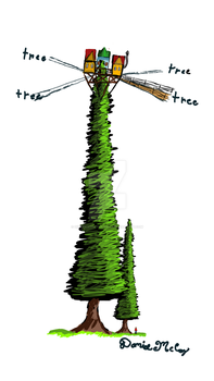 Treehouse concept by dinodanthetrainman