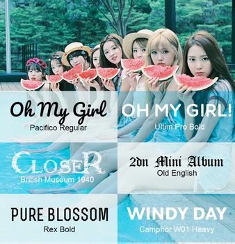 Oh My Girl Fonts by IsaGall