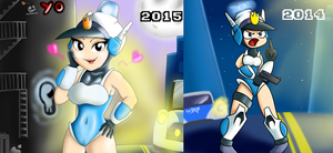 Mighty Switch Force Fanart 2014 - 2015 by IceBreak23
