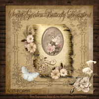 Secret Garden Butterfly Document by TheAngeldove