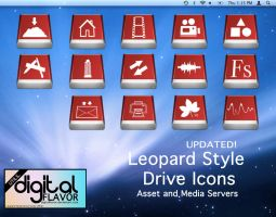 Leopard Style Drive Icons 2 by digitalFLAVOR