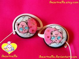 Mini Jigglypuff Headphones by Iheartnella