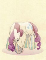 Rarity wearing socks by Mao-Ookaneko