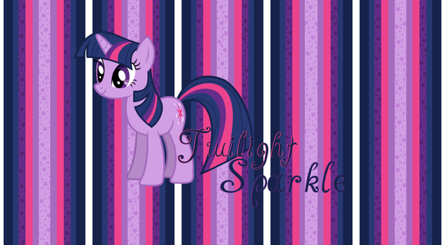 Twilight Sparkle Wallpaper Stripes by StrawberryHollow
