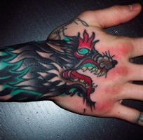 Hell Hound Hand by EricScsavnickiTattoo